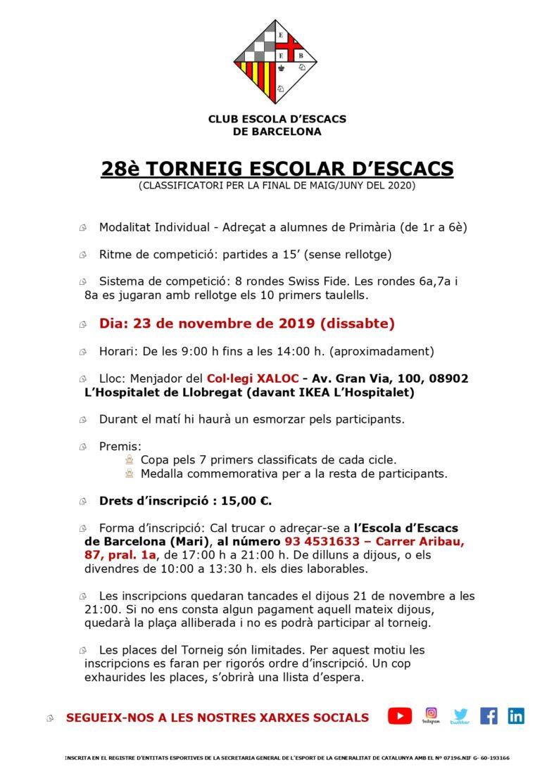 1er torneig individual del curs 2019-2020