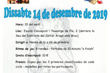 14 de desembre, 8è torneig FEMENÍ individual d'Escacs