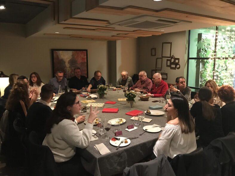 Gran ambient en el Sopar de Nadal de l'Escola