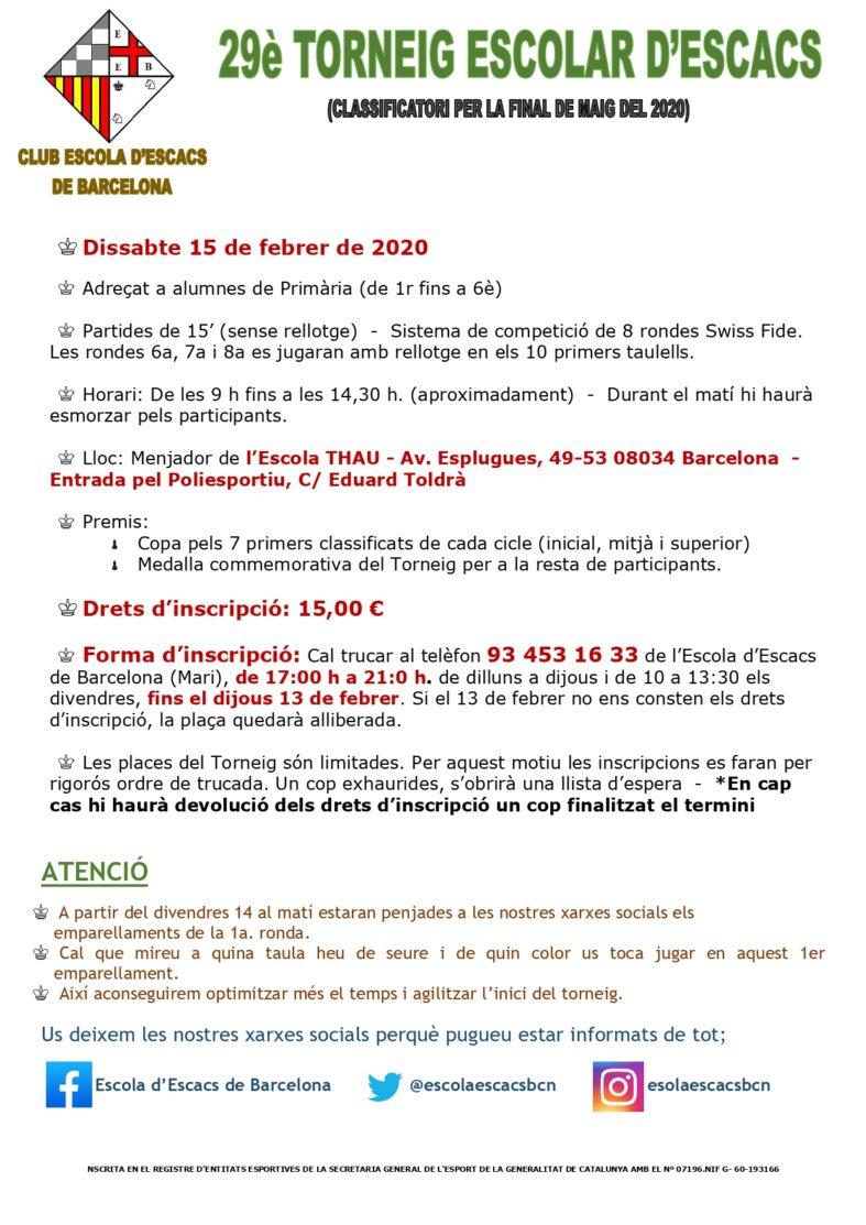 15 de febrer, 2n torneig individual de l'any