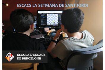Escacs de dilluns a dissabte en la setmana de Sant Jordi