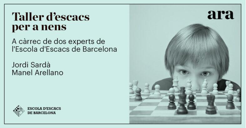 Acord de col·laboració entre l'Escola d'Escacs de Barcelona i el Diari ARA