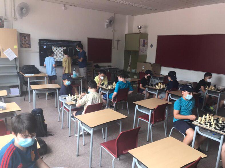 Escacs al Casal d'estiu de l'escola Xaloc