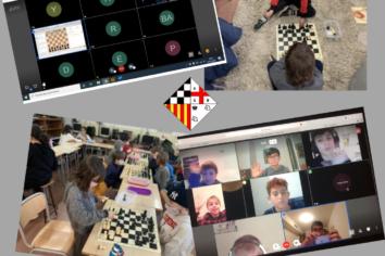 Amb mascareta o amb l'ordinador, tot serveix perquè els nostres alumnes segueixin gaudint dels Escacs