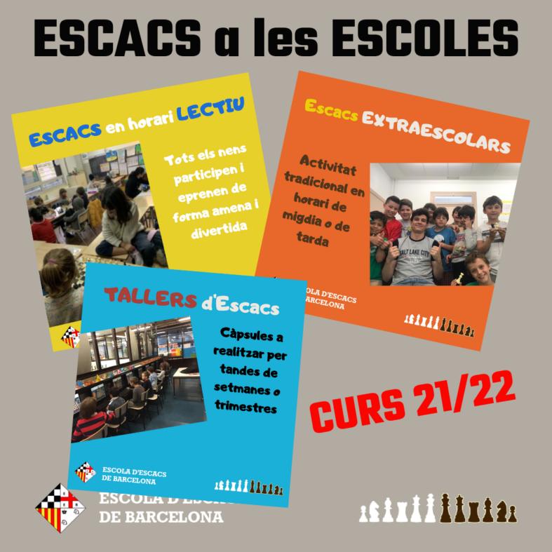 ESCACS A LES ESCOLES – CURS 21/22