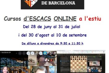 Cursos d'escacs ONLINE a l'estiu